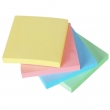 Notes autoadeziv 4 culori, roz, galben, albastru, verde 100 file/set, 76x76 mm, EvOffice