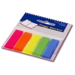 Index din platic autoadeziv 5 culori, roz, galben, albastru, verde 100 file/set, 45x12 mm, EvOffice
