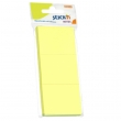 Notes autoadeziv culoare galben, 100 file/set, 51x38 mm, Stick'n